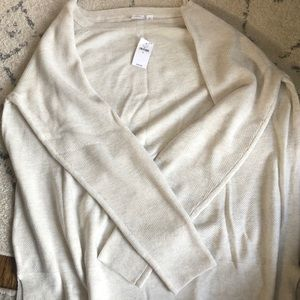 Gap cream color boatneck sweater